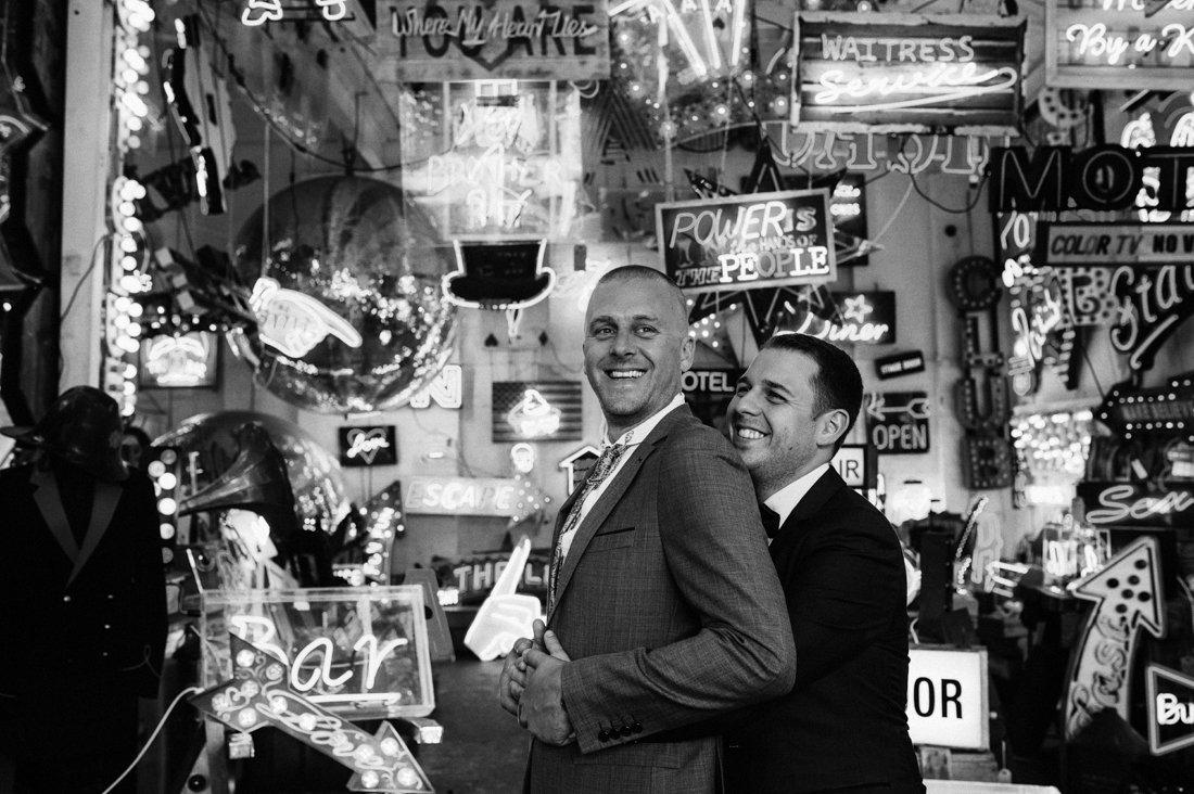 gods own junkard gay wedding photography neon-6