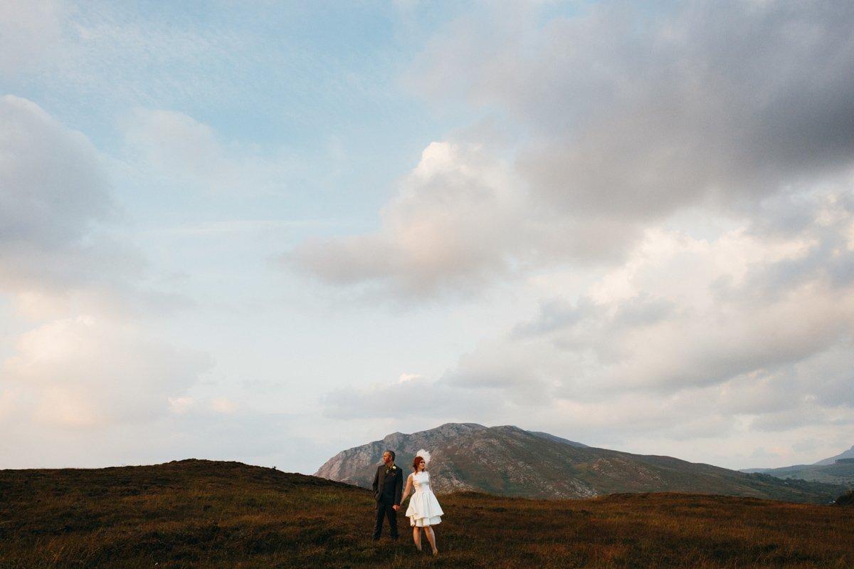 landscape shot tiny couple