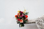 colourful winter wedding flowers
