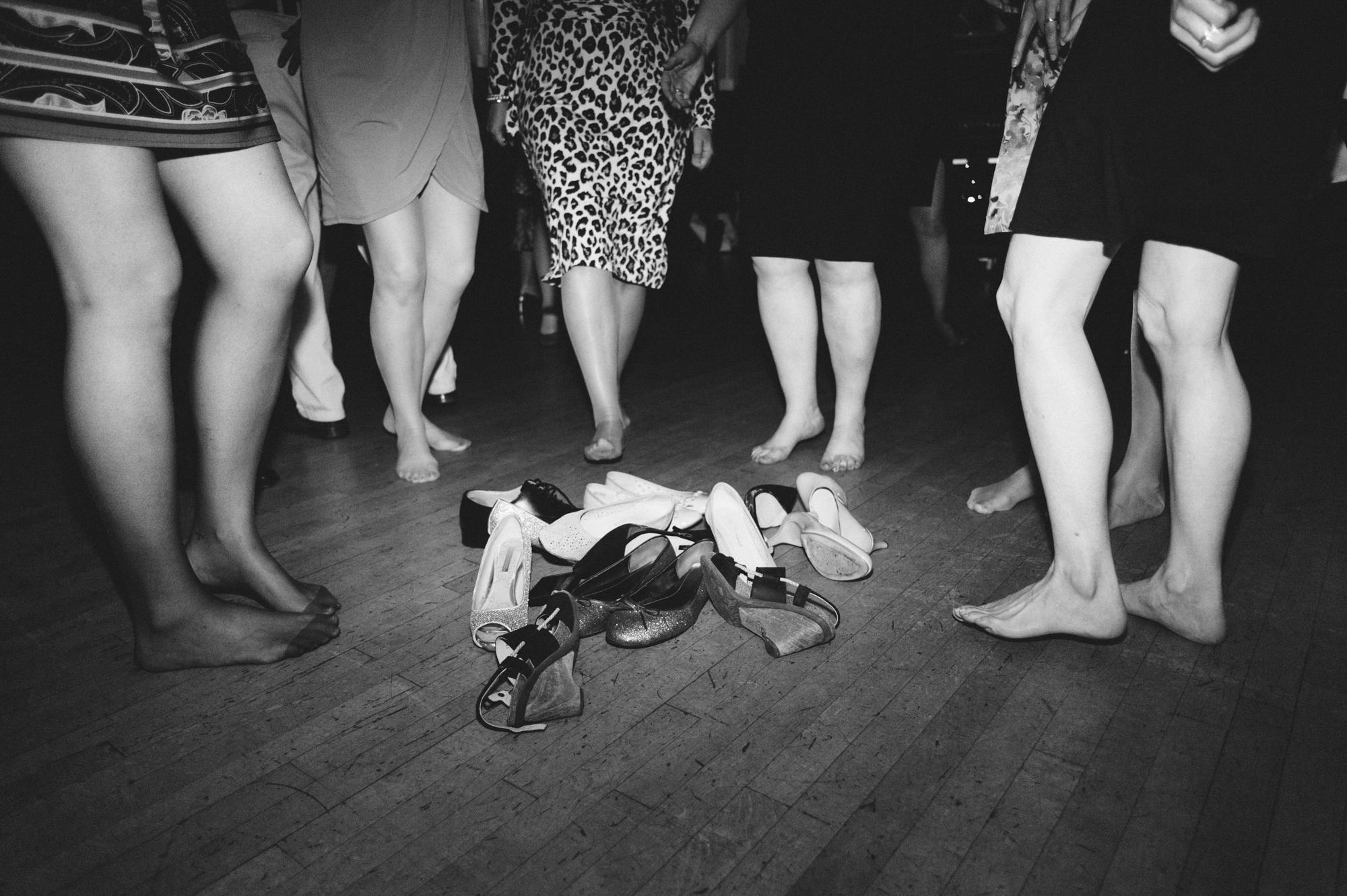 feet dancing wedding photography