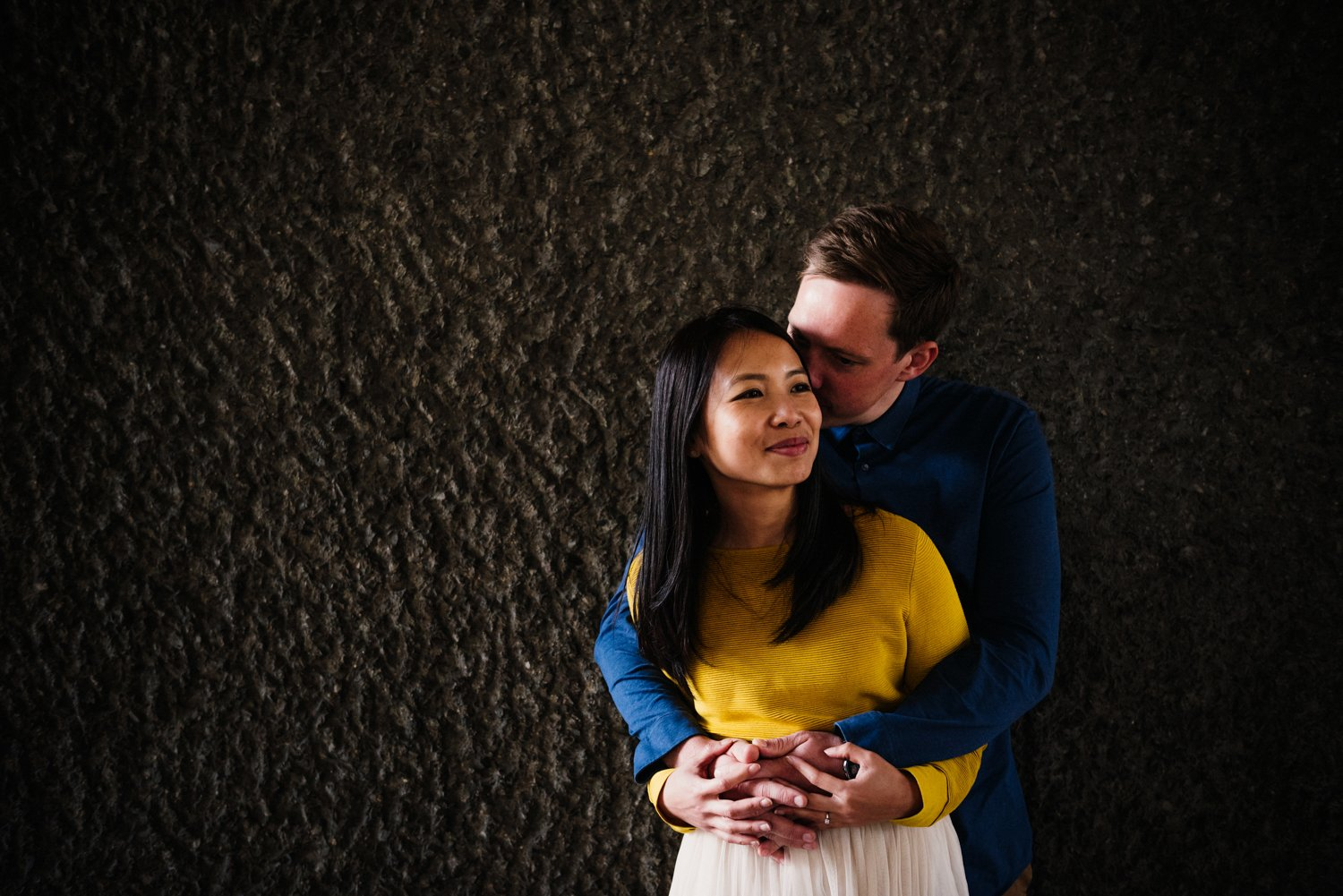 Engaged Couple Barbican Estate London
