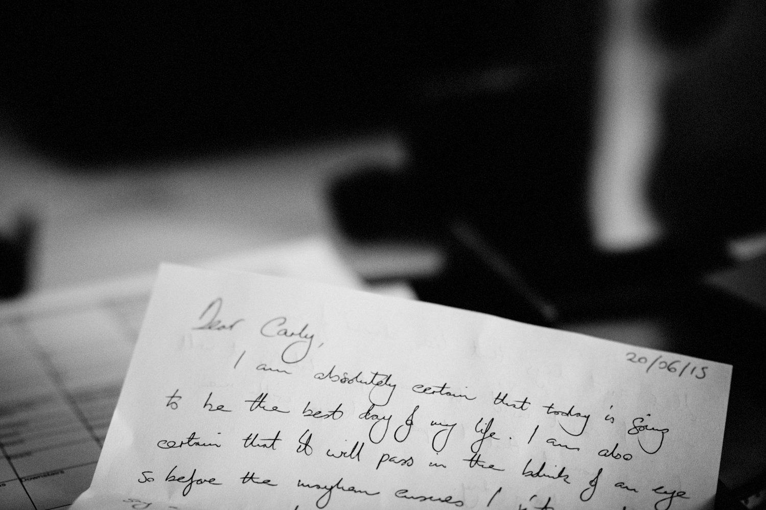 Love letter Whitstable Wedding BABB