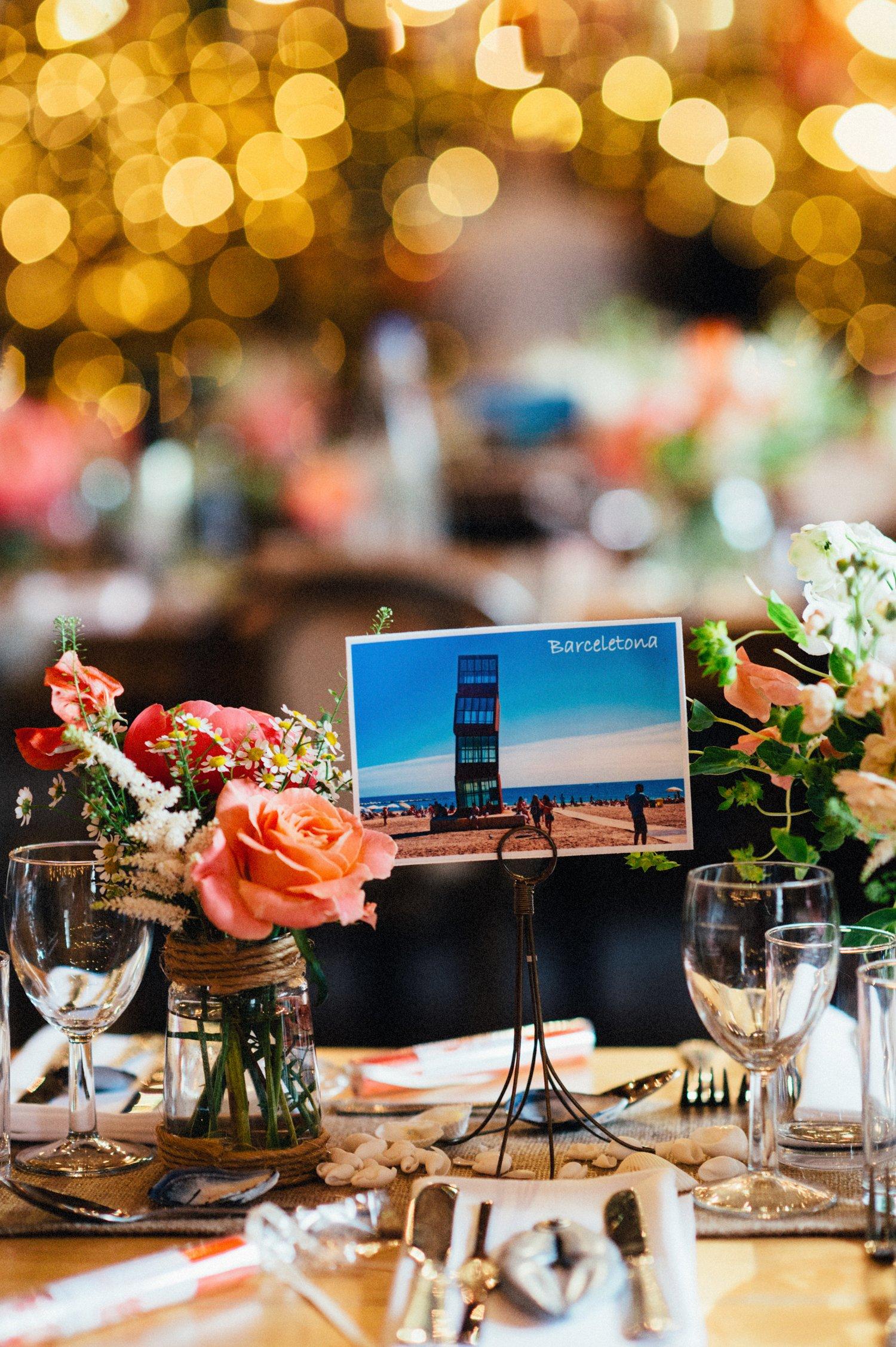 Wedding table name - Barcelona