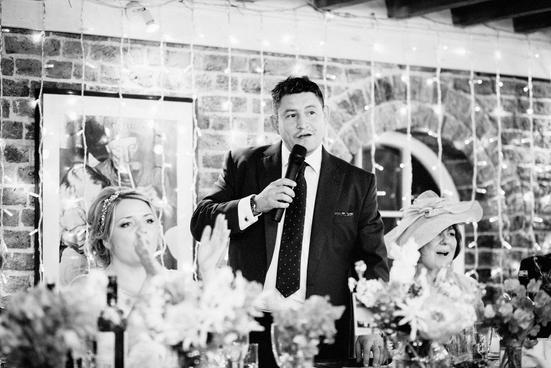 The grooms wedding speech BABB Photo