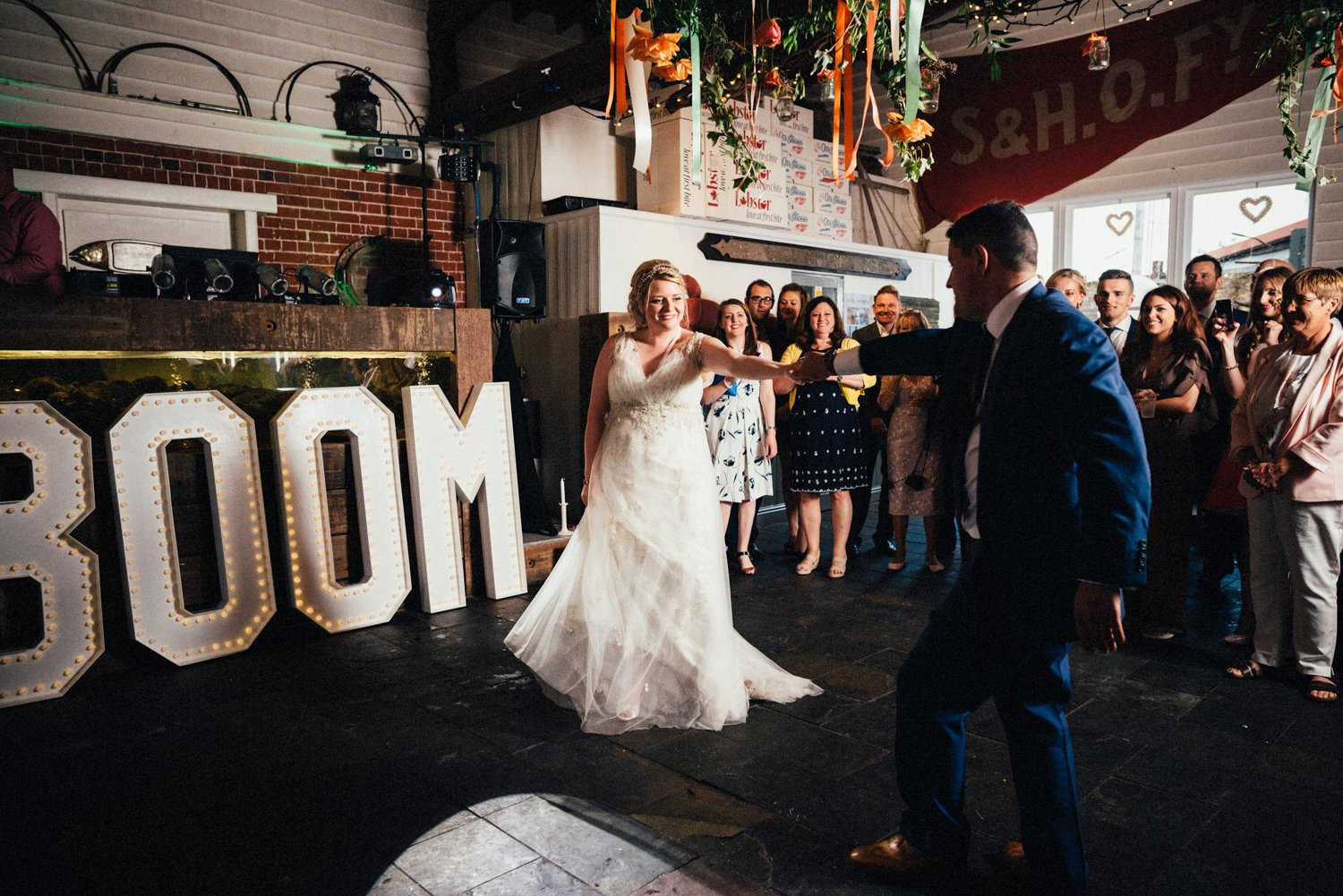 Whitstable wedding first dance