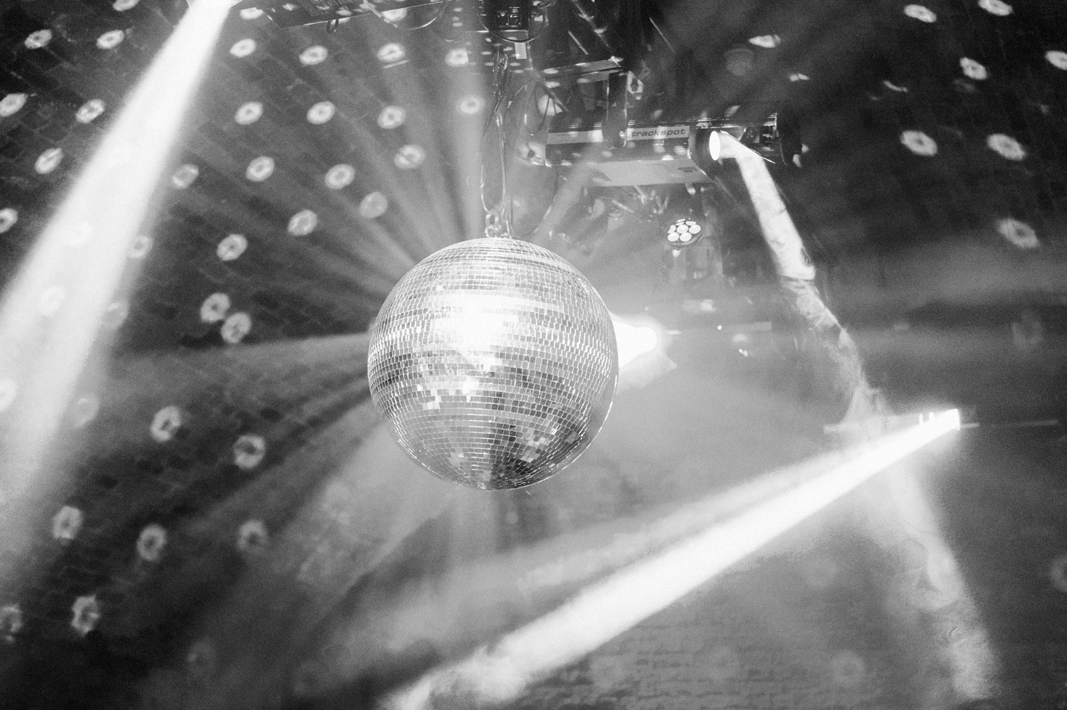 Glitter disco ball, Shoreditch wedding