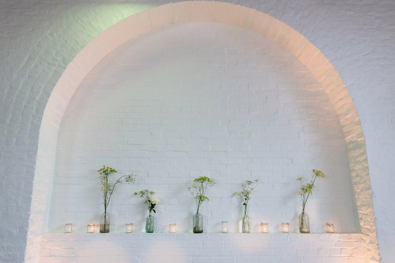 Urban chic London warehouse wedding decor