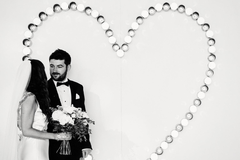 Creative wedding photography - giant heart