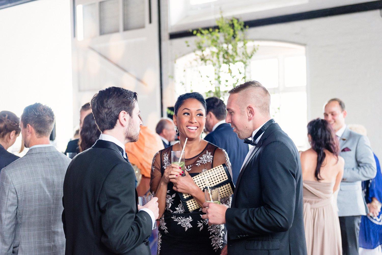 London warehouse wedding reception
