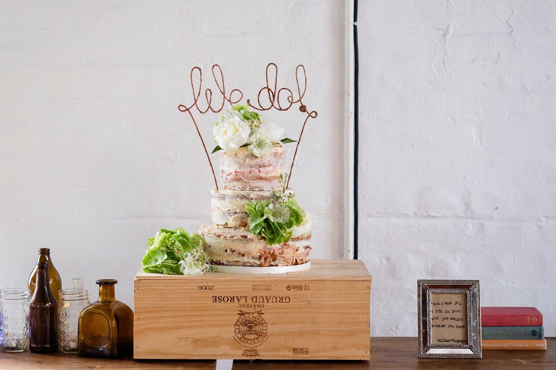 Modern alternative wedding cake