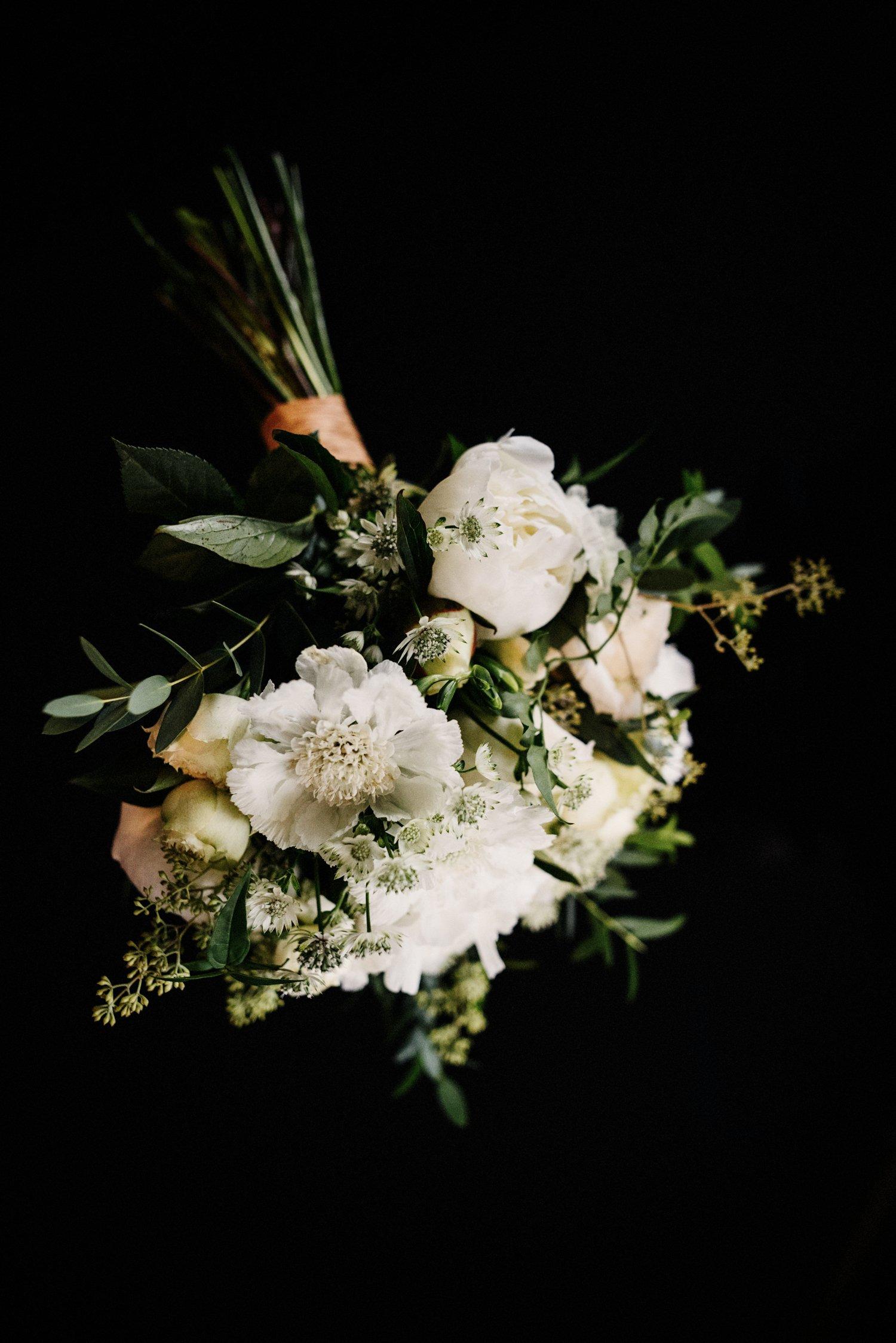 Modern wedding bouquet Jam Jar Flowers