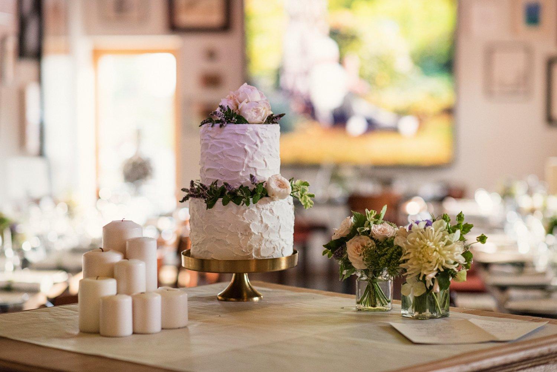 Floral wedding cake Hauser & Wirth wedding Somerset