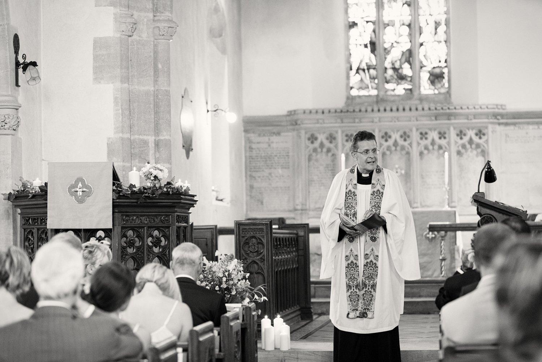 Wedding ceremony St Nicholas' Church Somerset