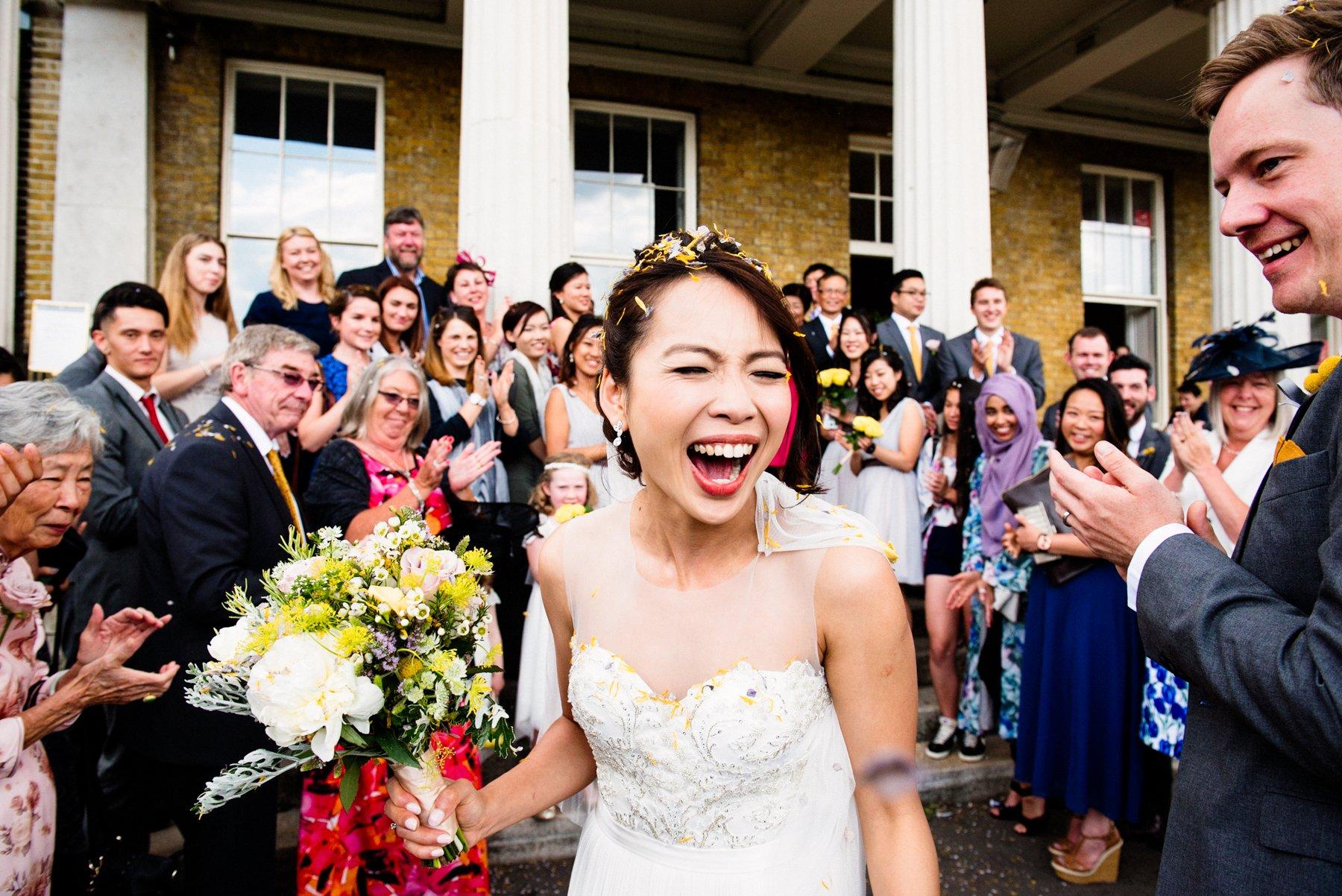 Bridal fun St Chads Place Wedding