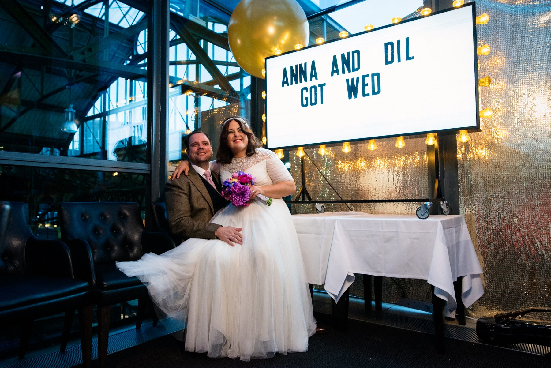 Jenny Packham bride with groom London