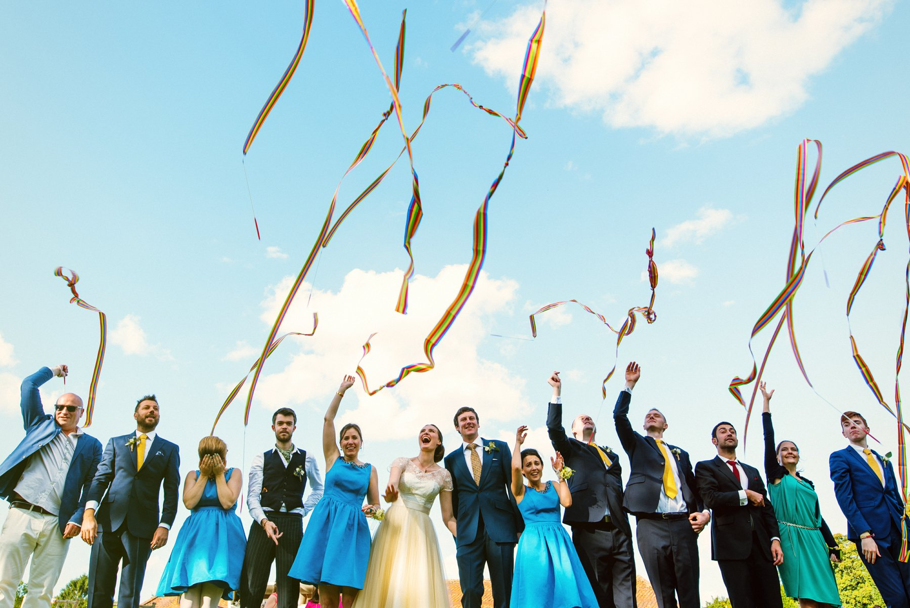 Fun group wedding photo Norfolk Babb