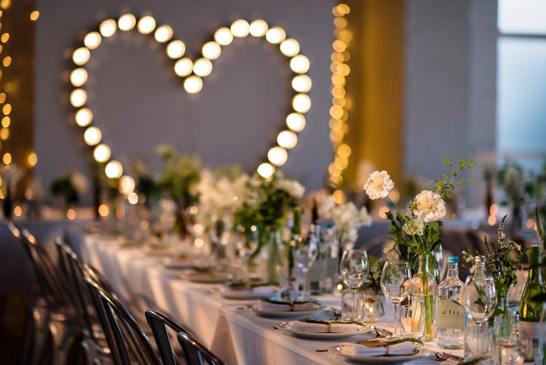 Heart decoration London wedding