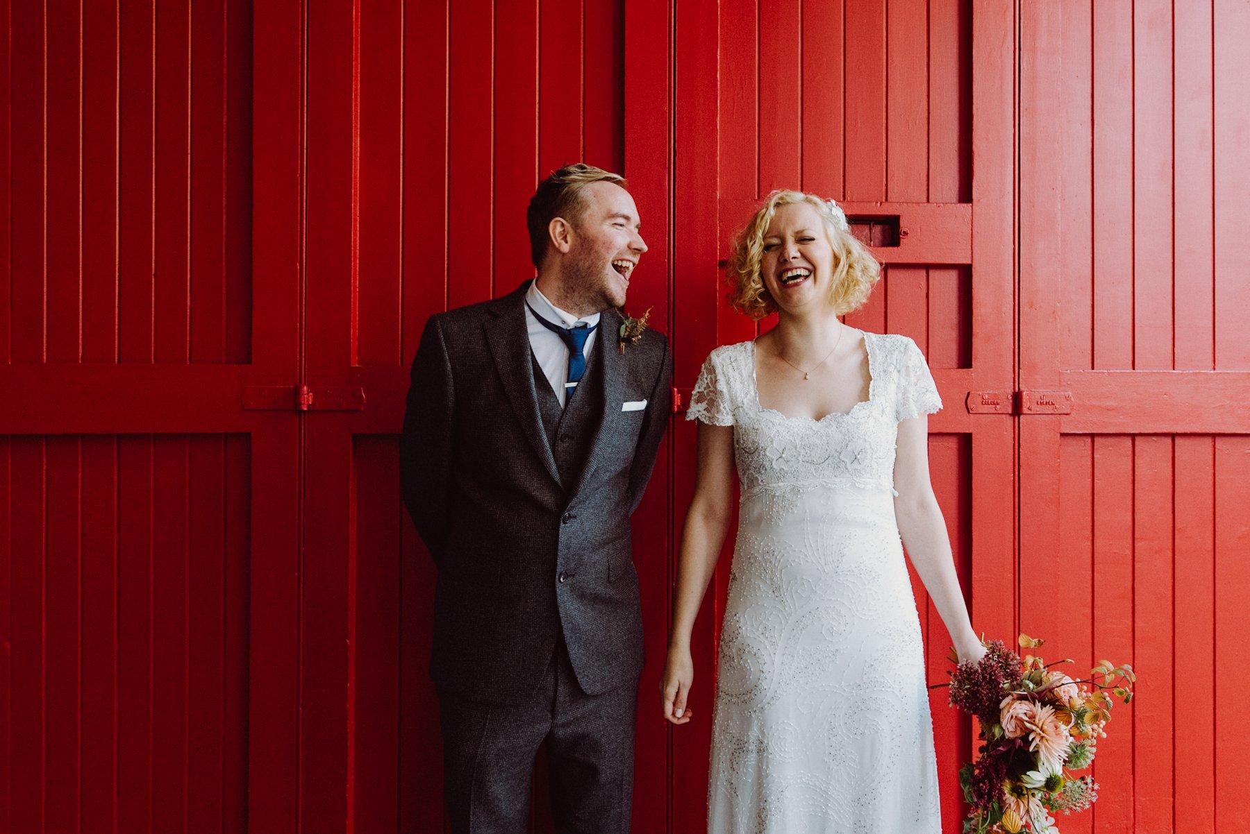 Phase Eight bride with groom Edinburgh