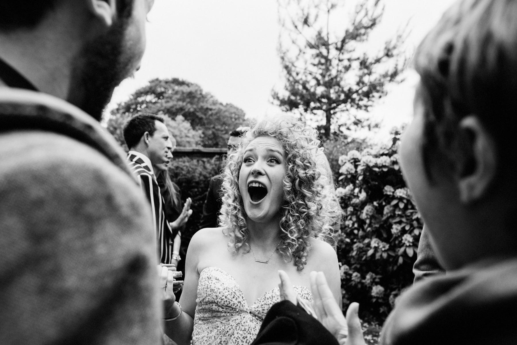 Sarah Seven bride ecstatic
