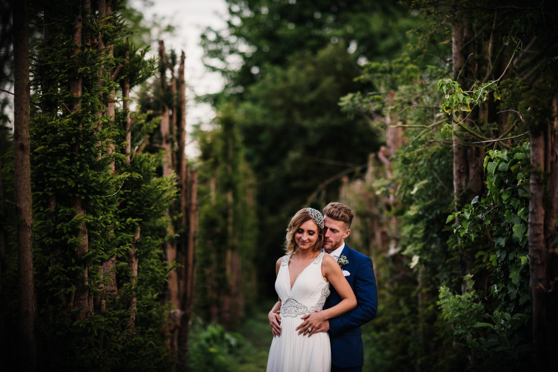Woodhall Manor wedding portrait