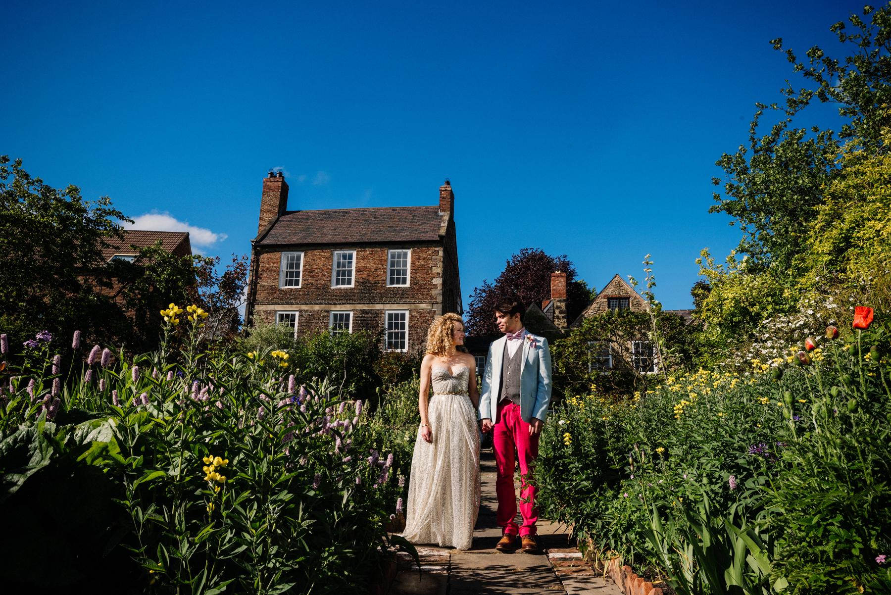 Sarah Seven bride with groom