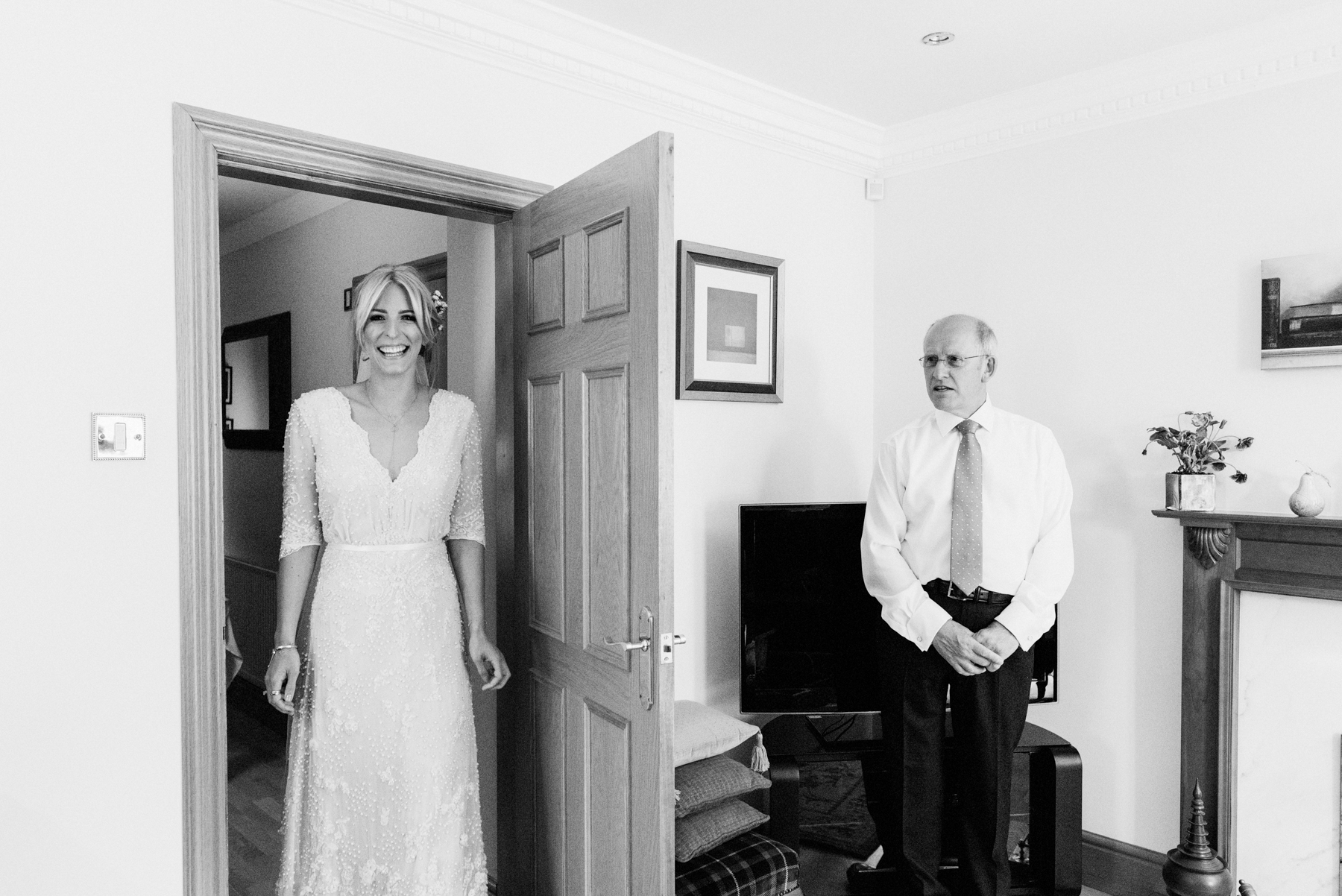 Emma Beaumont bride with father