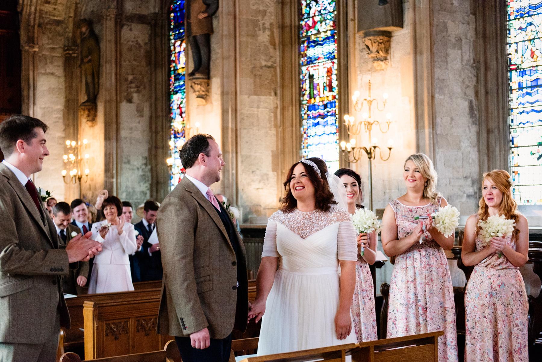 Wedding at St Etherdreda's London