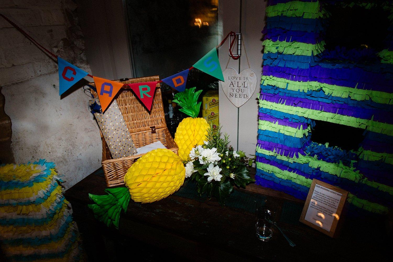 Fun decoration at West Lexham wedding Norfolk