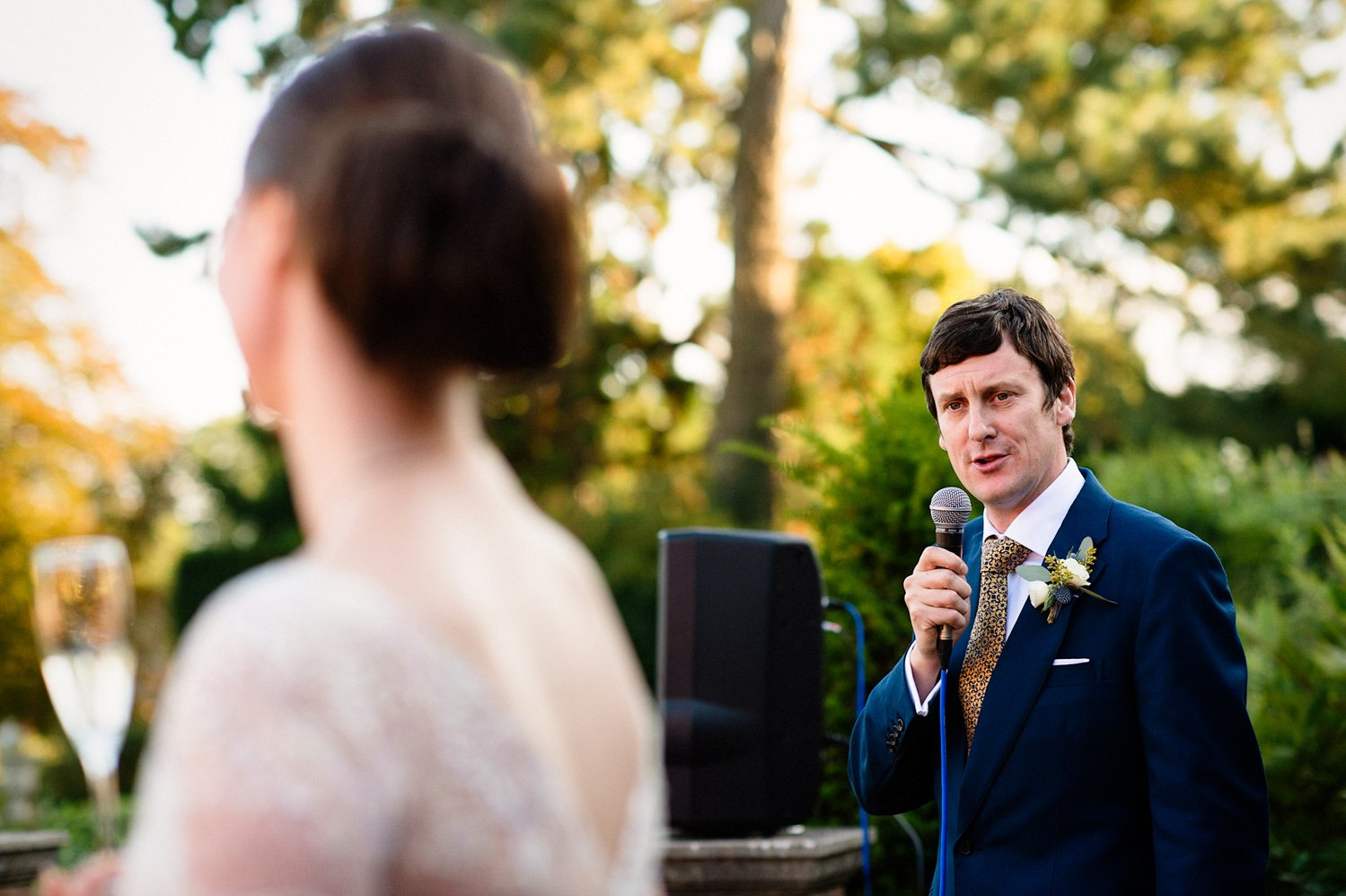 Cad and the Dandy groom delivers speech Norfolk wedding
