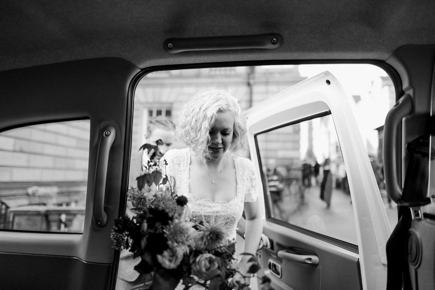 Phase Eight bride with Pyrus bouquet Scotland