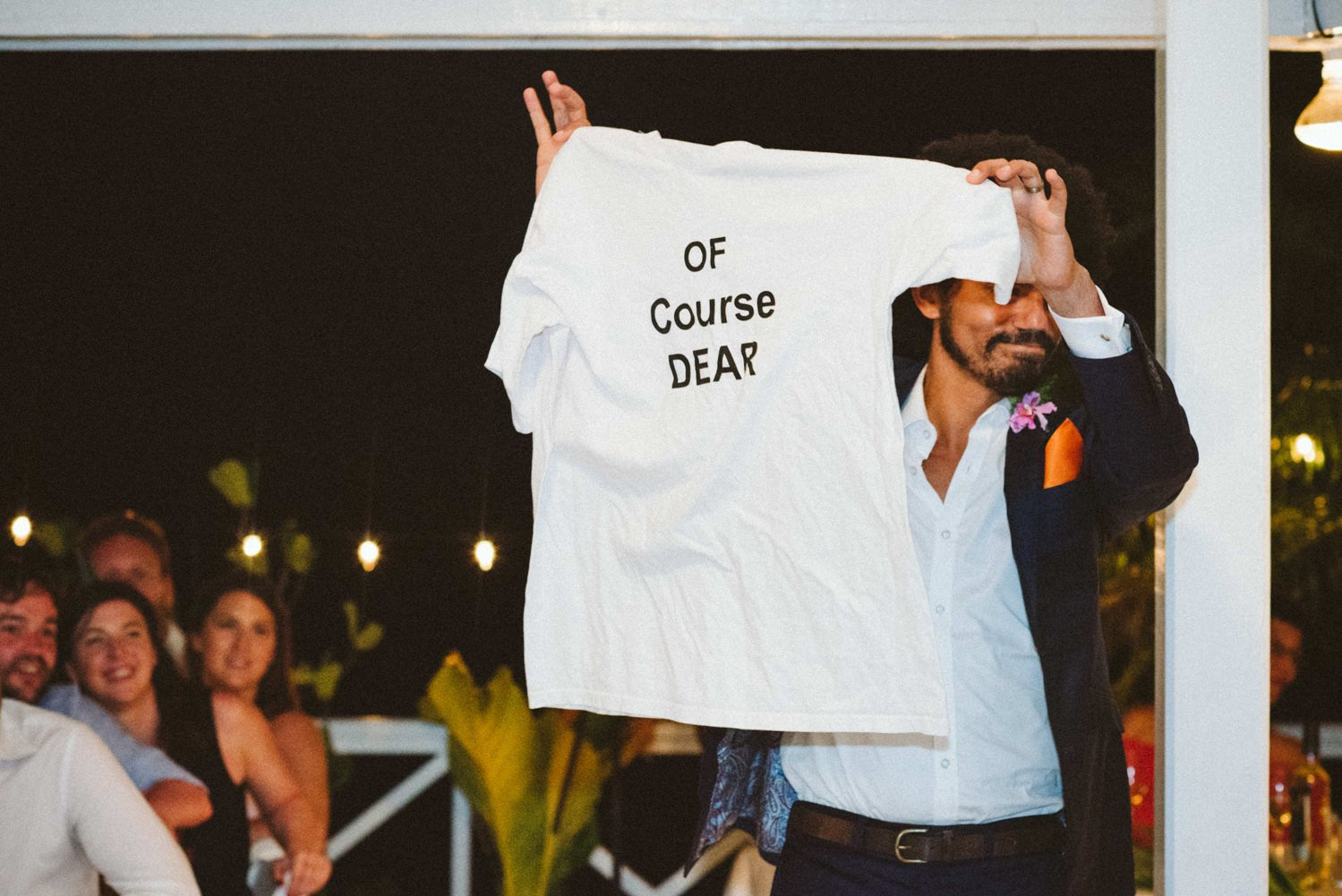 Of Course Dear T-shirt for groom Tobago wedding