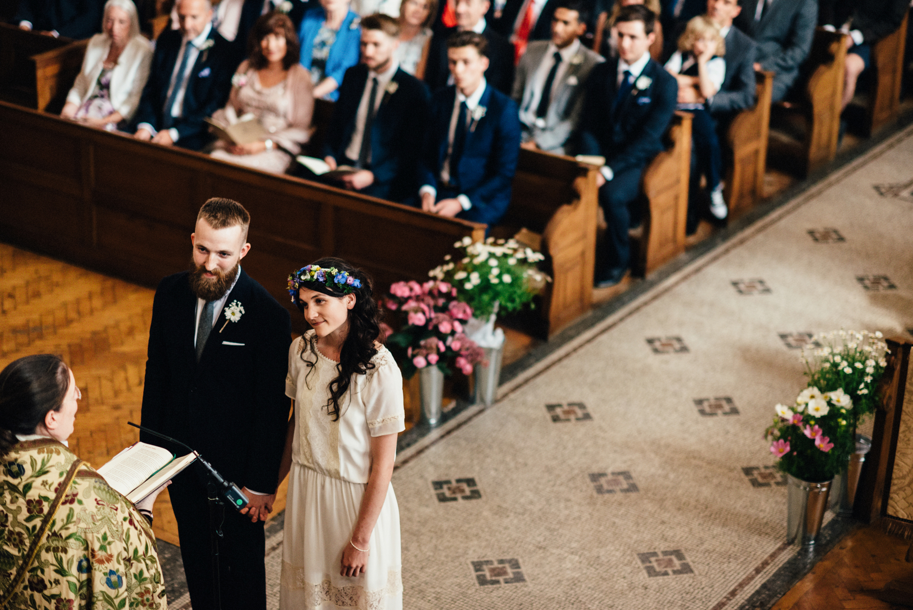 Church wedding photography Bath