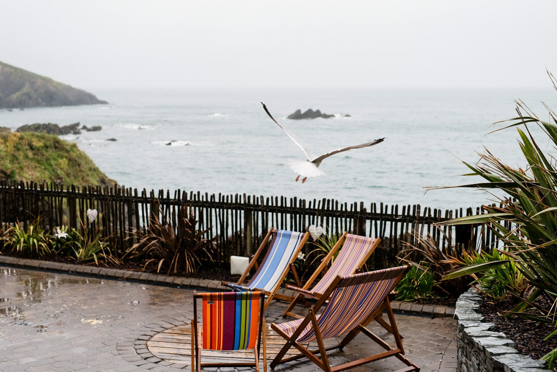 Rainy Tunnels Beach Wedding Photography Devon
