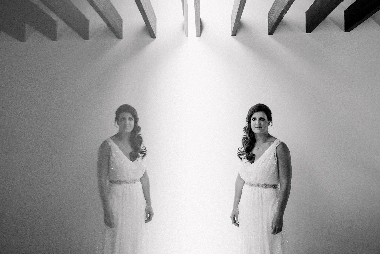 Creative destination wedding photography bride wearing Charlie Brear Mallorca
