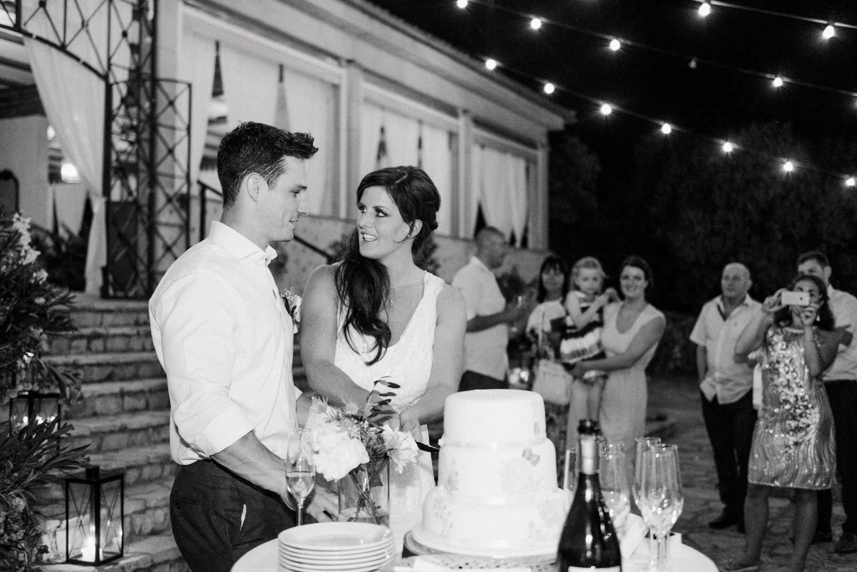 Wedding cake cutting Mallorca wedding photography Babb Photo
