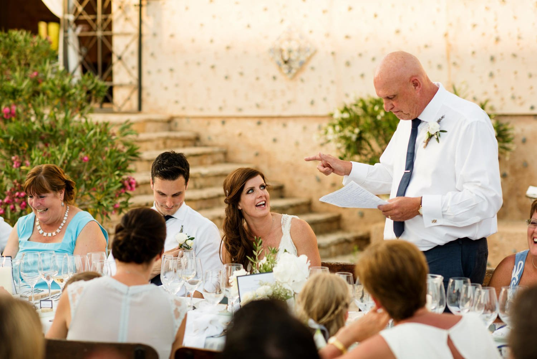 Wedding speeches with Father of the bride Finca Son Bosch Mallorca