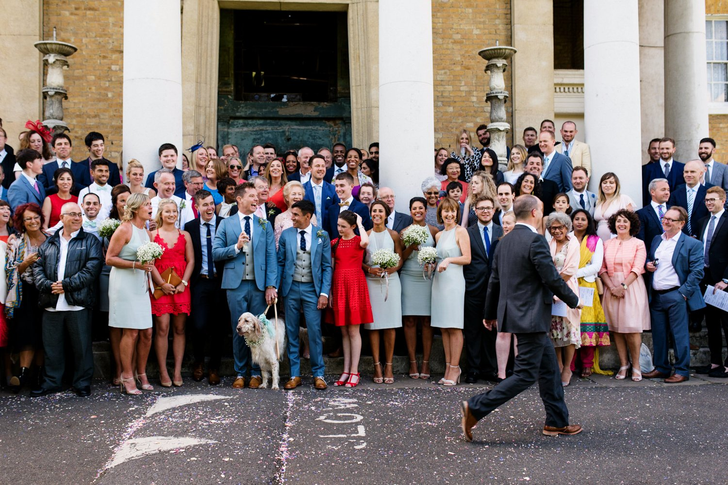 Documentary colourful same sex wedding photography London