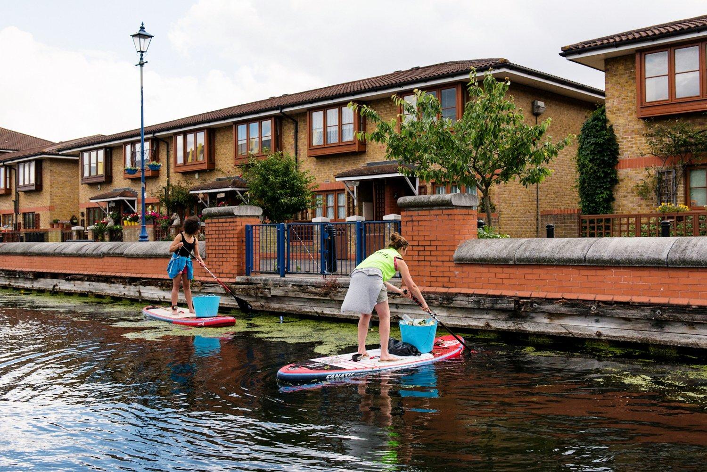 Paddle boarding Hackney London