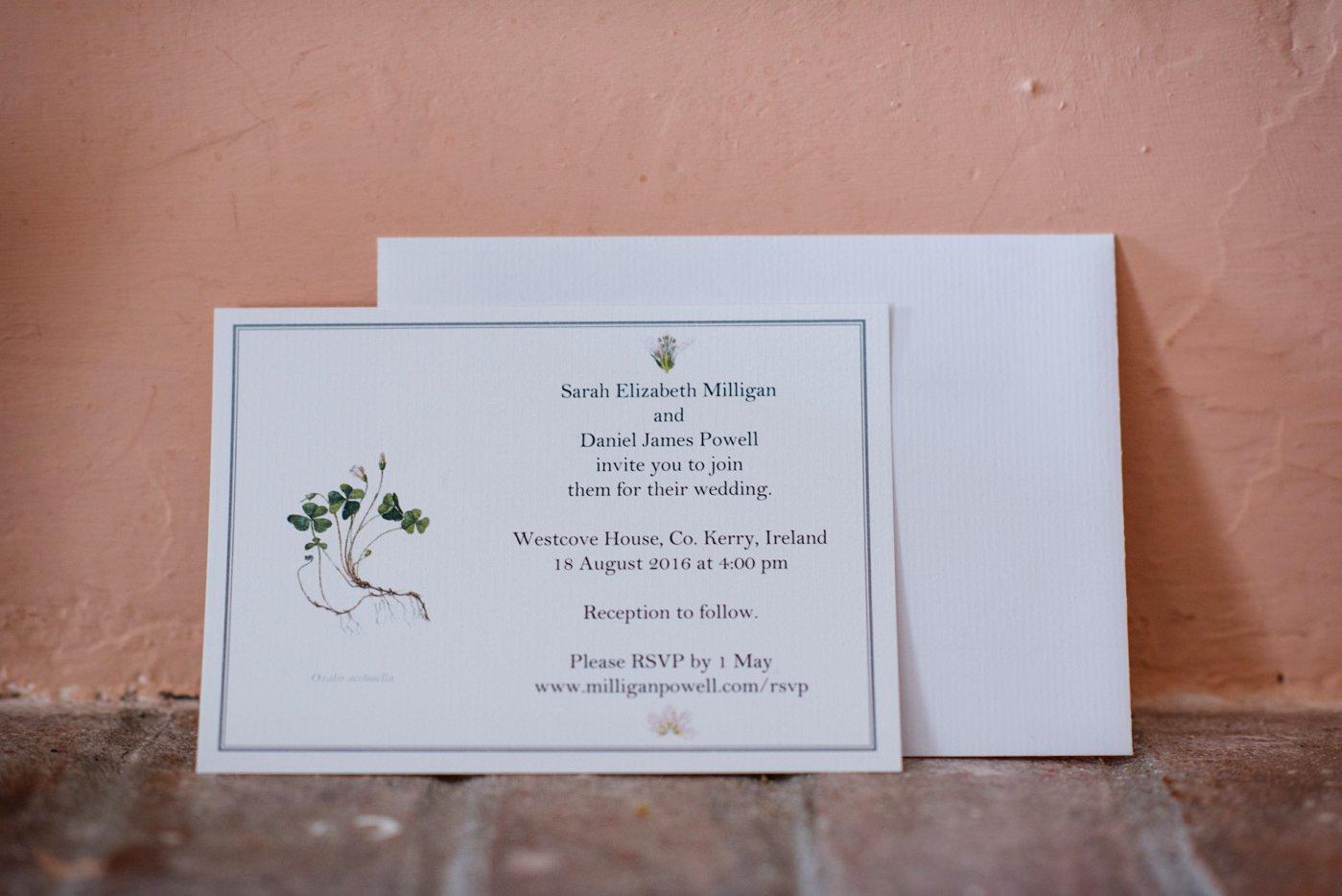Wedding stationery Ireland wedding photography