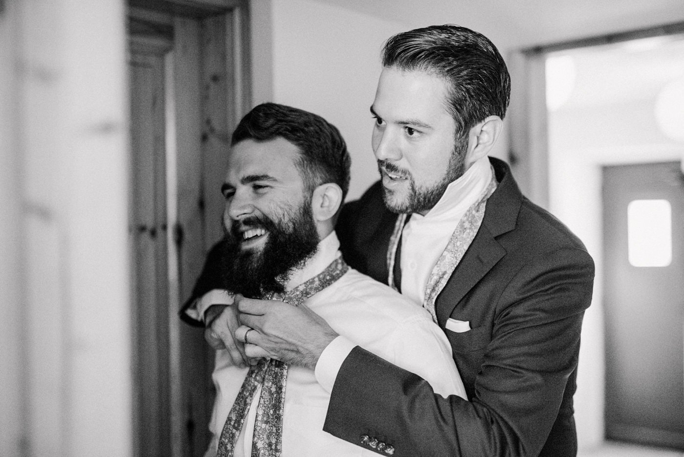 Groom with best man Co Kerry Ireland documentary wedding photography