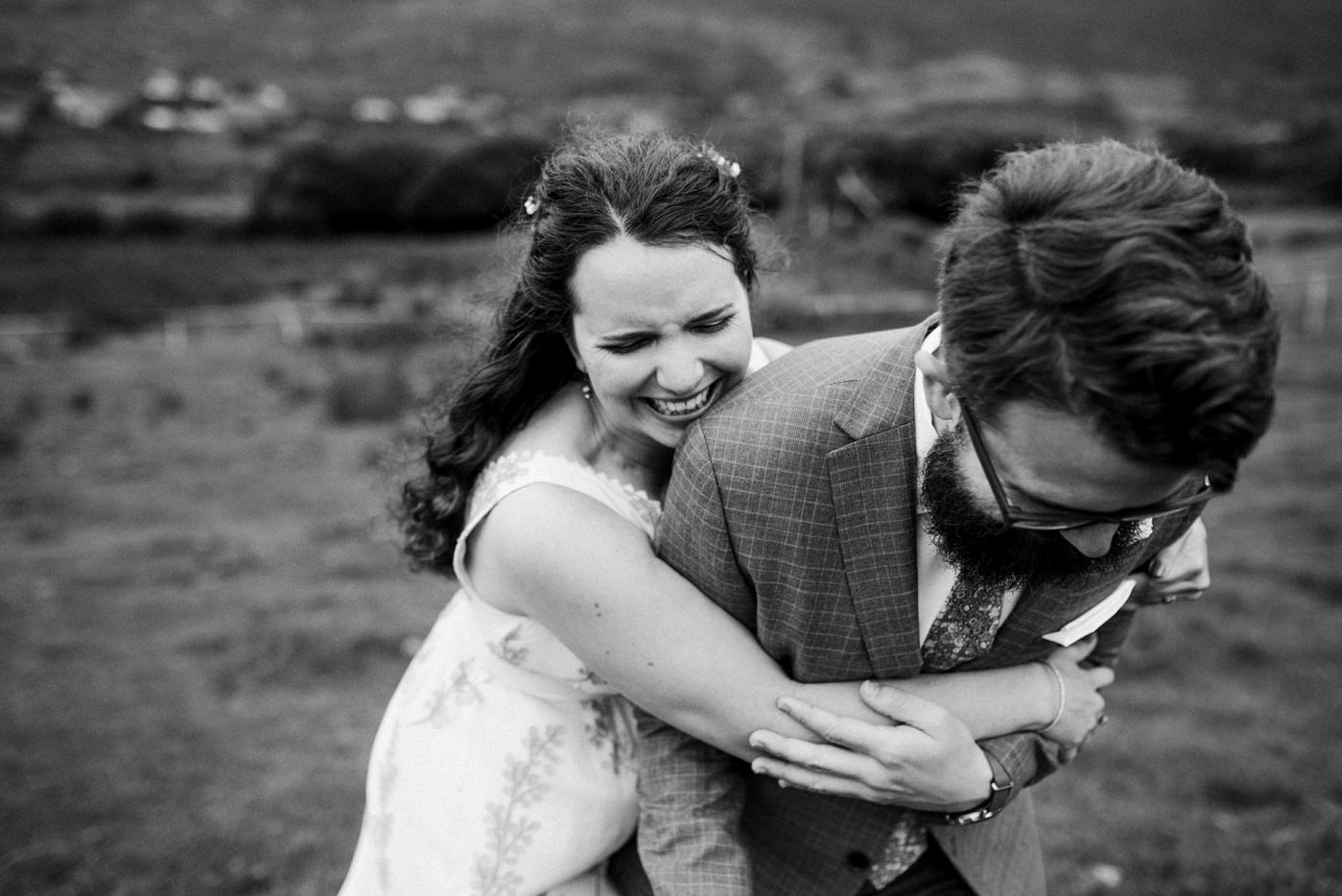 Quirky destination wedding photography Co Kerry Ireland