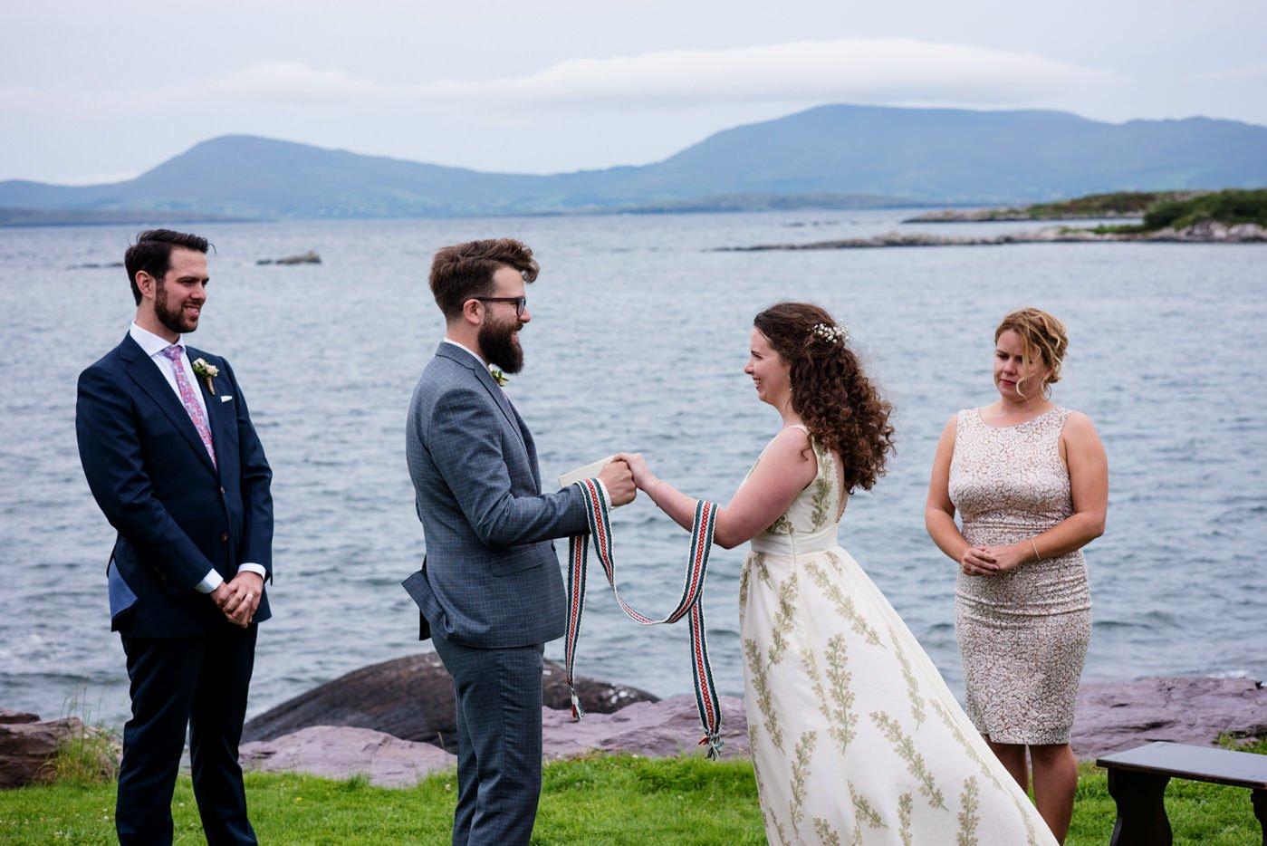 Bohemian outdoor wedding photography Co Kerry Ireland