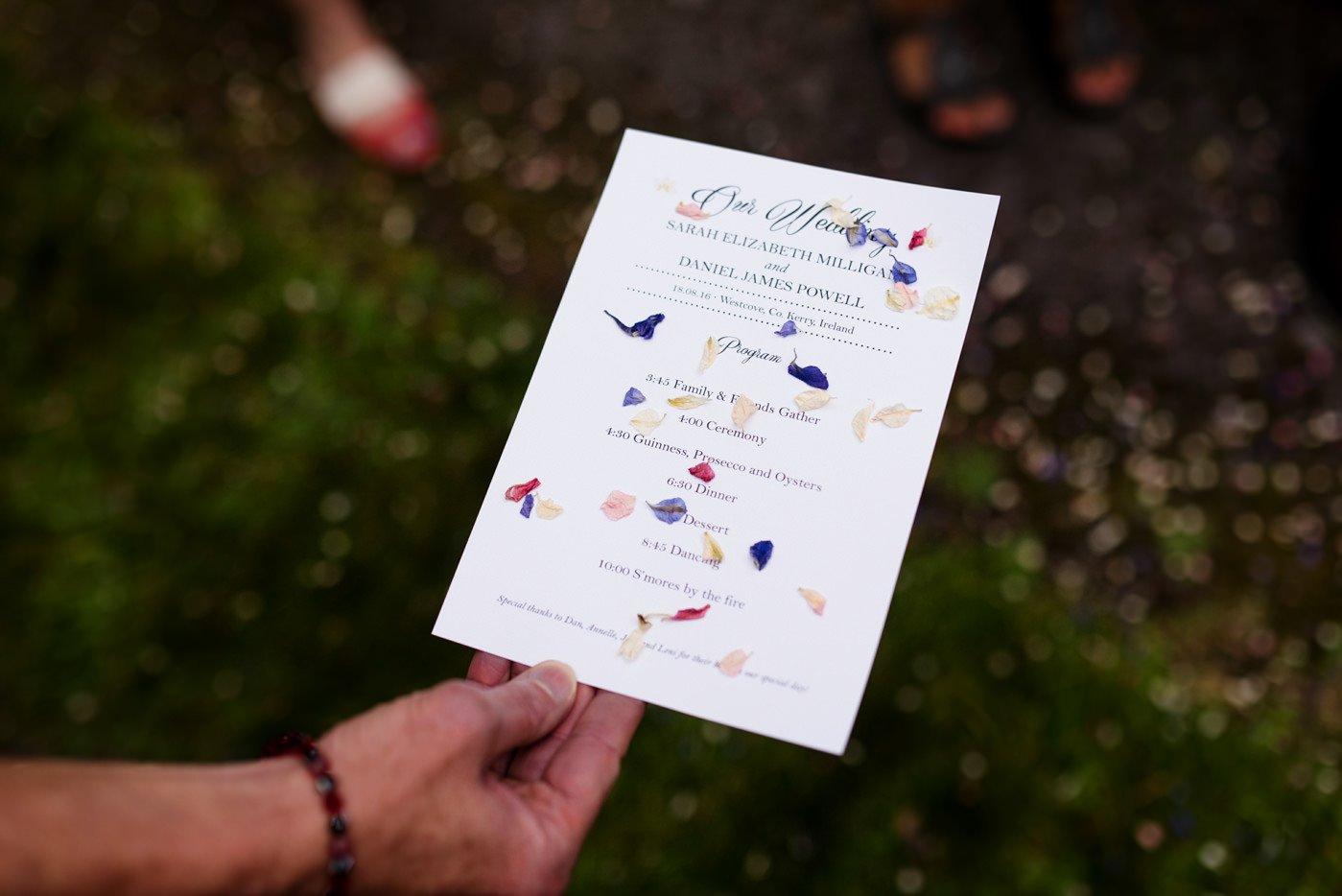 Colourful DIY wedding decor Co Kerry Ireland