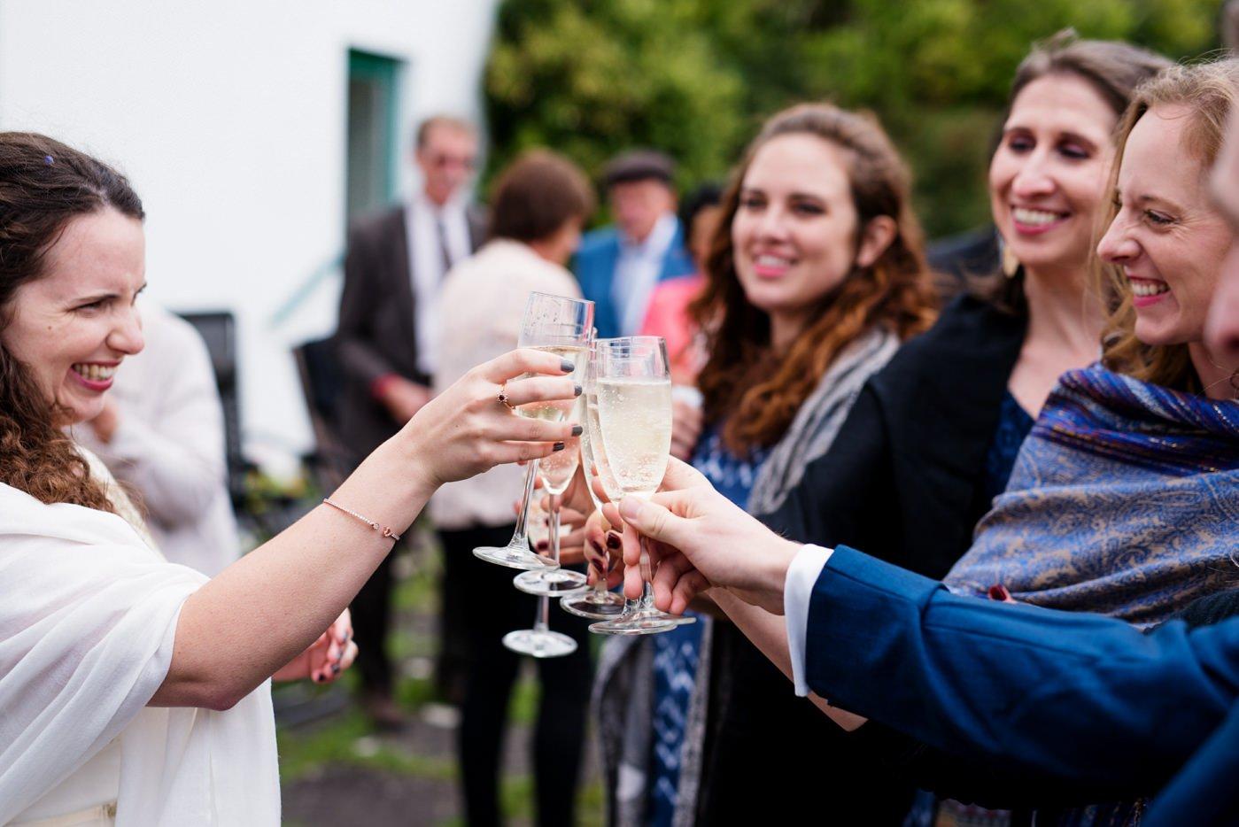 Champagne toast Co Kerry Ireland wedding photography