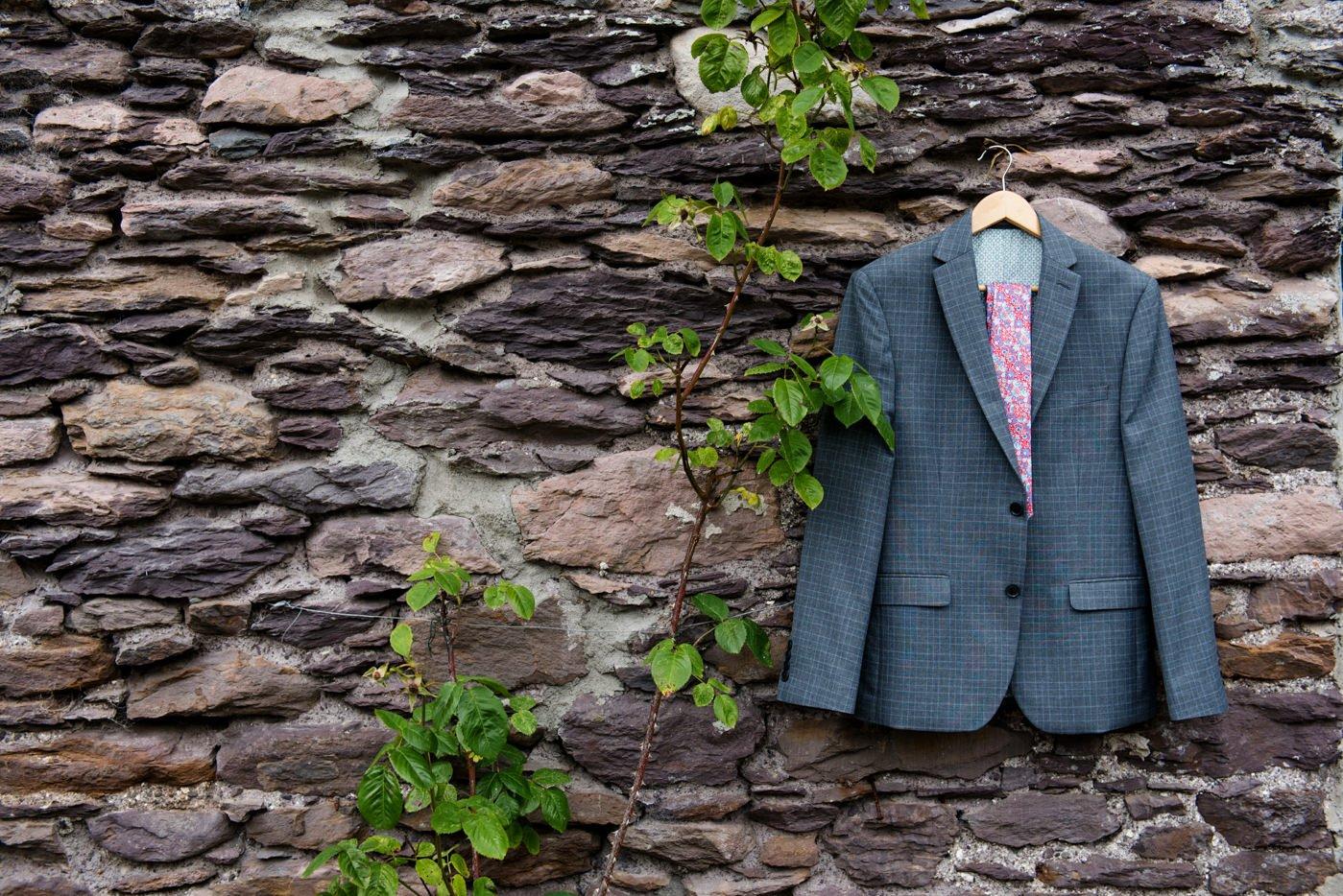 Suit hanging pre-wedding photography Co Kerry Ireland