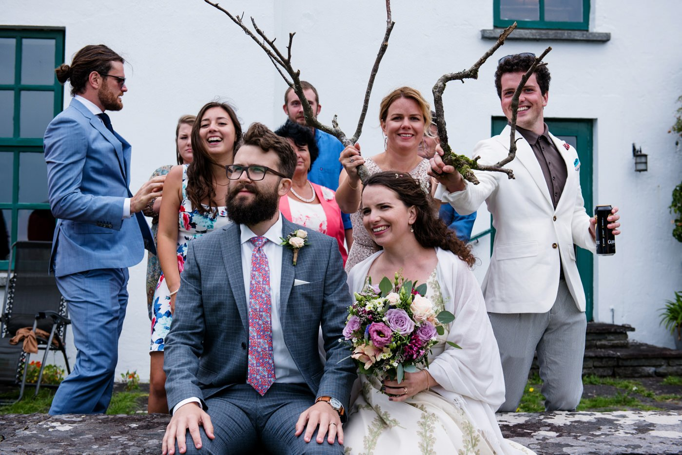 Quirky outdoor wedding photography Co Kerry Ireland