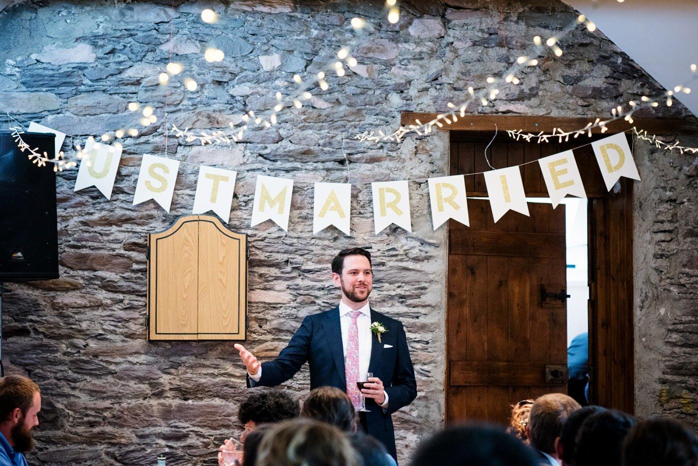 Quirky DIY wedding decor Westcove House Co Kerry Ireland