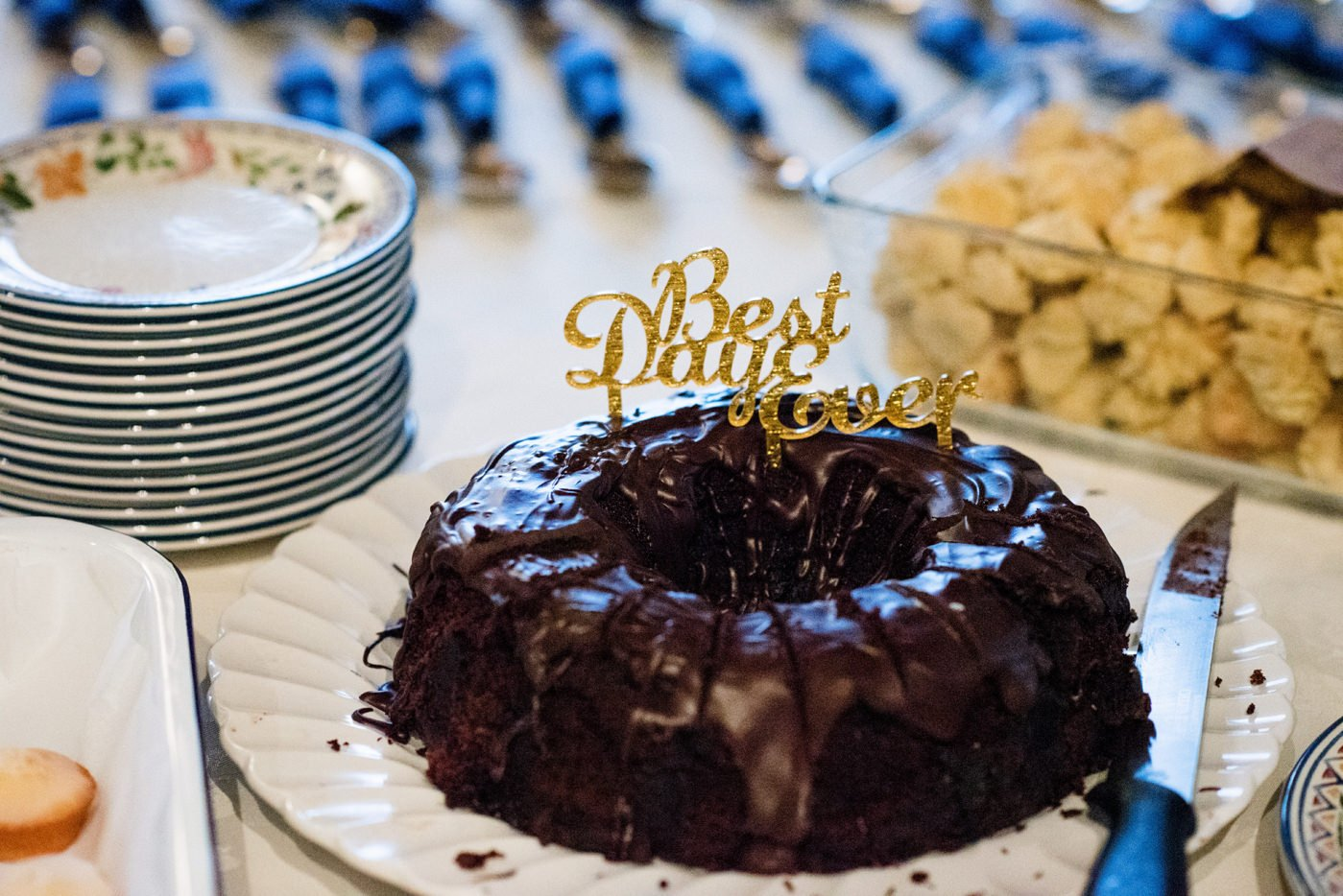 Chocolate cake Westcove House Co Kerry Ireland wedding photography