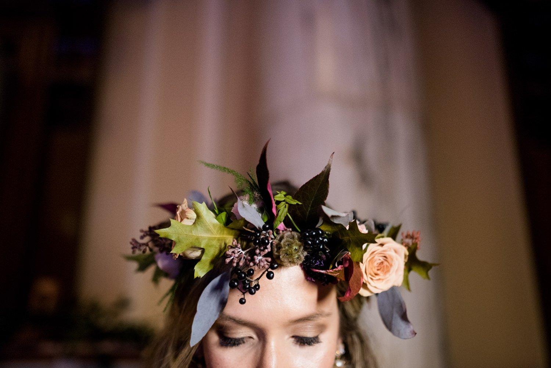 Bridal flower crown by Flowers by Passion Bath wedding