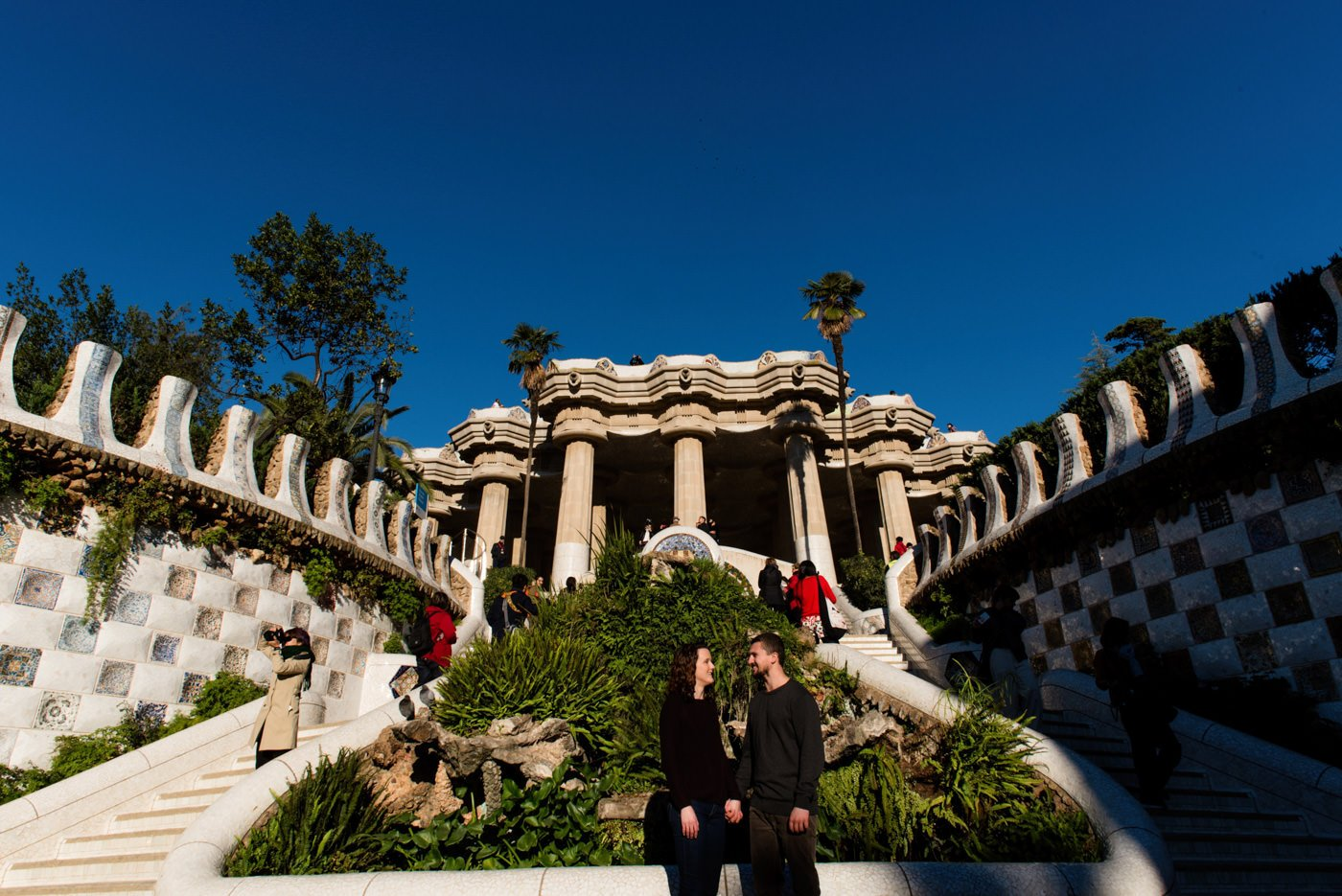 Carmel Bunkers engagement photoshoot Barcelona